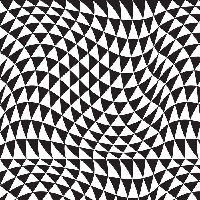 Tapeta Pixerstick Bezešvé Monochrome geometrické pozadí - Pozadí