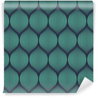 Vinylová Tapeta Bezešvé neon modré optický klam tkaný vzor vektor