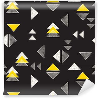 Vinylová Tapeta Bezešvé ručně kreslených trojúhelníky vzorem.