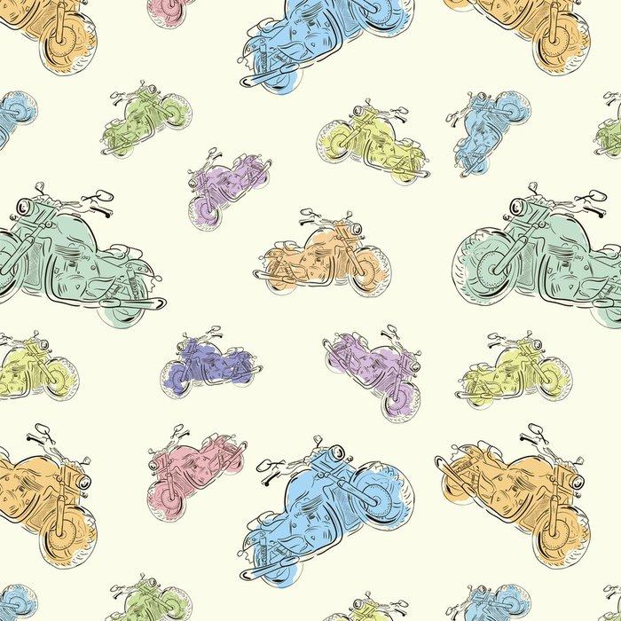 Tapeta Pixerstick Bezešvé textury s motocykly 3 - Struktury