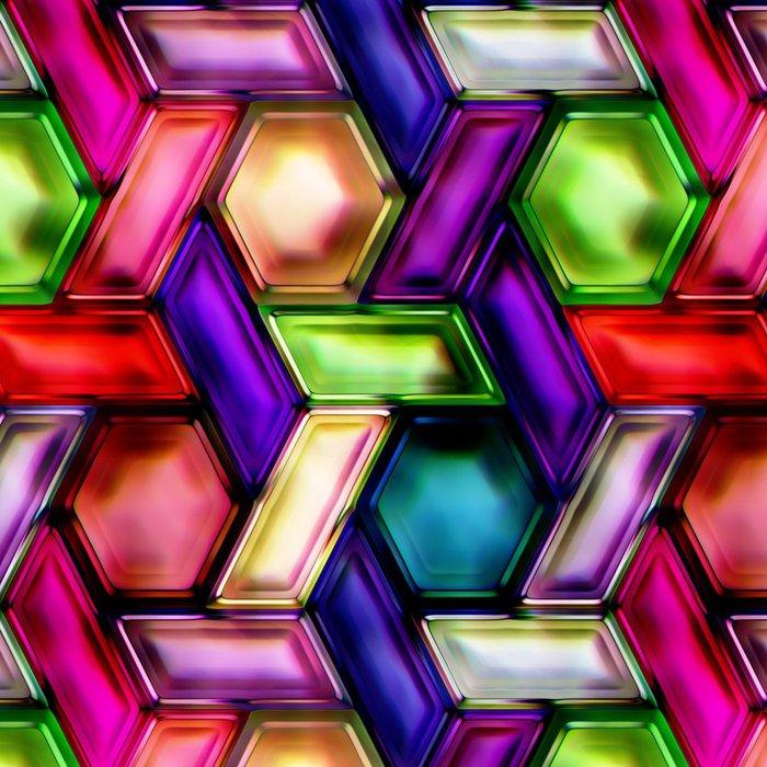 Tapeta Pixerstick Bezešvé textury vícebarevné vločky - Témata