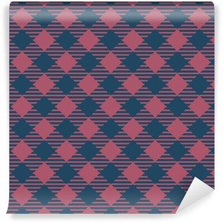 Vinylová Tapeta Bezešvé tmavě modré a vínové základní přehoz kontroluje módní vzor vektoru