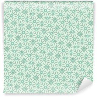 Vinylová Tapeta Bezešvé tyrkysová úhlopříčka japonské asanoha pattern vector