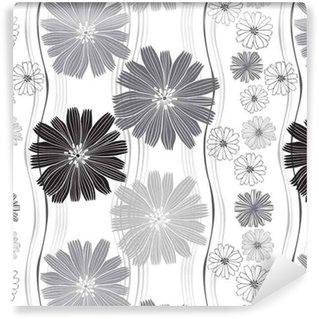 Vinylová Tapeta Bezešvé vektorové vzorek s abstraktní květiny.