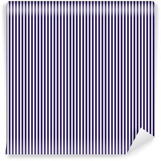 Vinylová Tapeta Bezešvé vzor častých svislých tmavě modrými pruhy. Lineární pozadí svislé pruhy. vektorové ilustrace