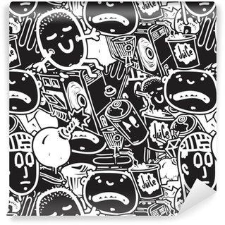 Vinylová Tapeta Bezešvé vzor graffiti
