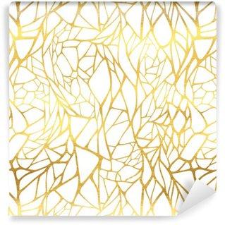 Vinylová Tapeta Bezešvé vzor s abstraktním zlatou ozdobou