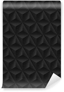 Tapeta Pixerstick Bezešvé vzor s černým trojúhelníkovým úlevou