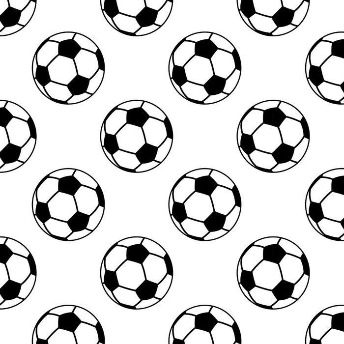 Tapeta Pixerstick Bezešvé vzor s fotbalovými nebo fotbalové míče - Týmové sporty