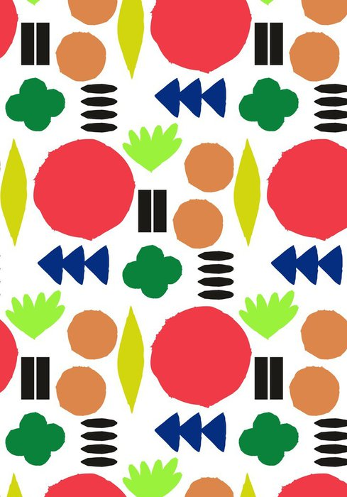Tapeta Pixerstick Bezešvé vzor s grafickými geometrickými prvky - Skandinávský