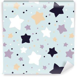 Vinylová Tapeta Bezešvé vzor s hvězdami. vektorové šablony. vhodný pro textil, tapety, obaly a obaly na dárkové balení.