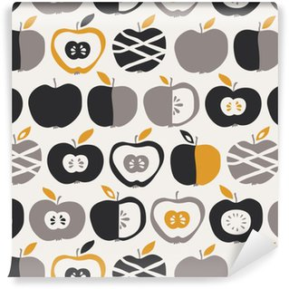 Vinylová Tapeta Bezešvé vzor s jablky