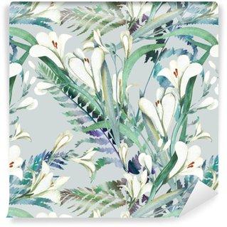 Vinylová Tapeta Bezešvé vzor s květinami Crocosmia