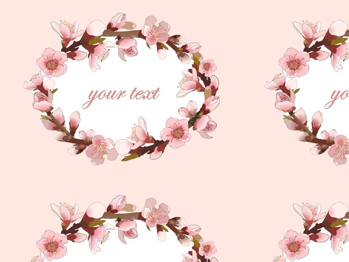 Vinylová Tapeta Bezešvé vzor s kvetoucí růžové květy. - Rostliny