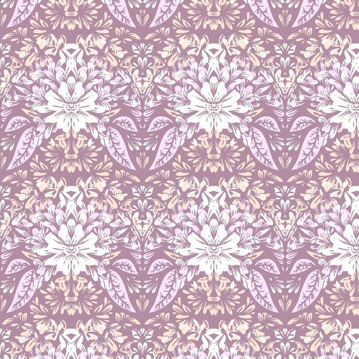 Tapeta Pixerstick Bezešvé vzor s lehkými elegantními květinovými motivy. - Grafika