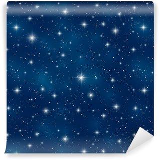Vinylová Tapeta Bezešvé vzor s lesklými hvězd