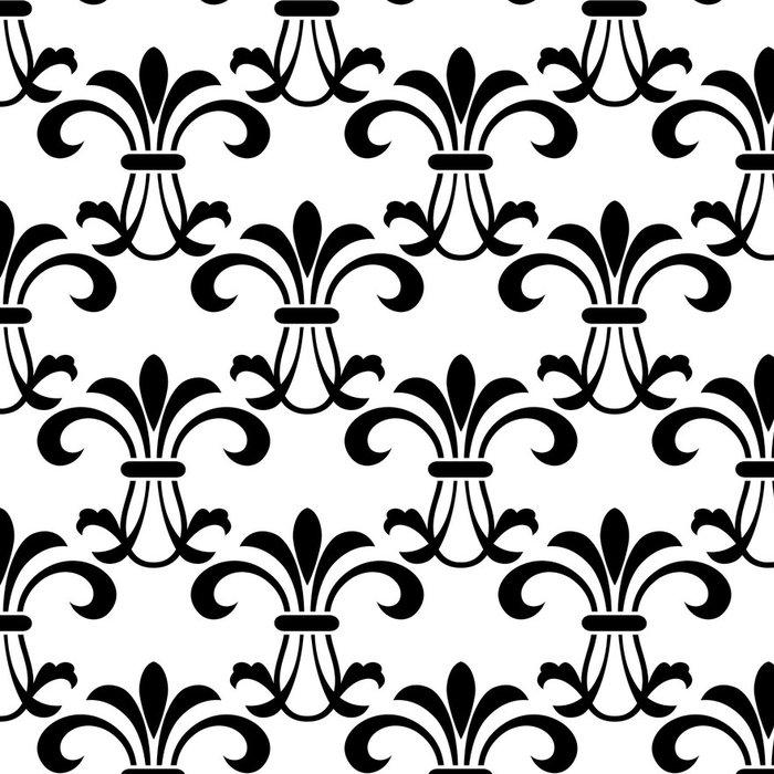 Tapeta Pixerstick Bezešvé vzor s ozdobnými květinovými prvky - Pozadí