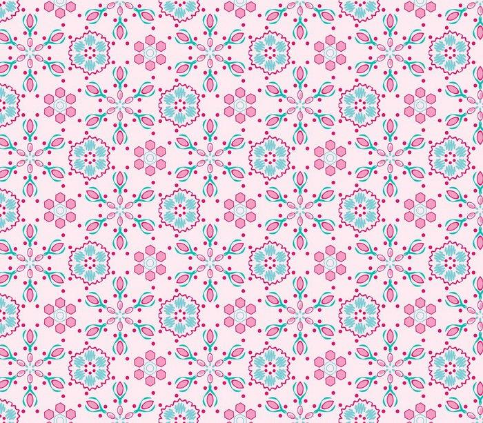 Tapeta Pixerstick Bezešvé vzor s růžovým pozadím - Móda