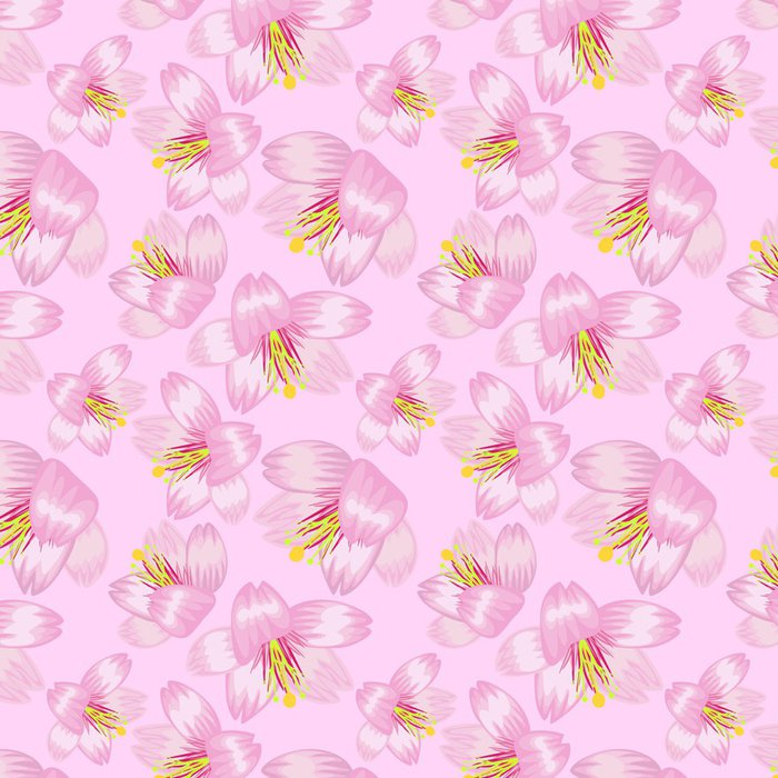 Tapeta Pixerstick Bezešvé vzor sakura - Květiny