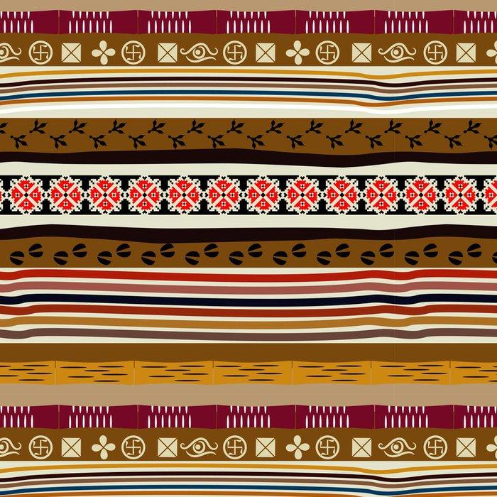 Vinylová Tapeta Bezešvé vzor ve stylu Tribe se stopami zvířat a b - Struktury