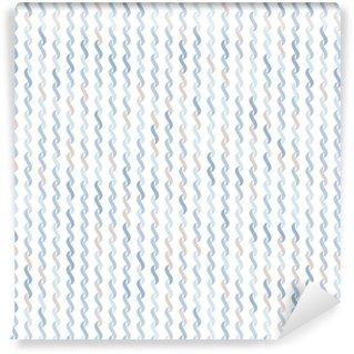 Vinylová Tapeta Bezešvé vzor vlnité tvary na bílém pozadí.