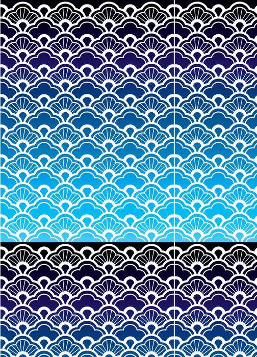 Tapeta Pixerstick Bezešvé vzor vlny - Asie