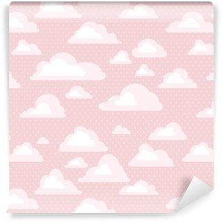 Vinylová Tapeta Bezešvé vzorek s mraky