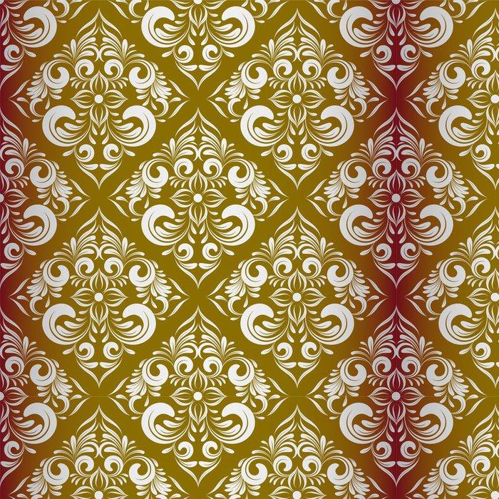 Tapeta Pixerstick Bezešvé wallpaper.damask pattern.floral pozadí - Pozadí