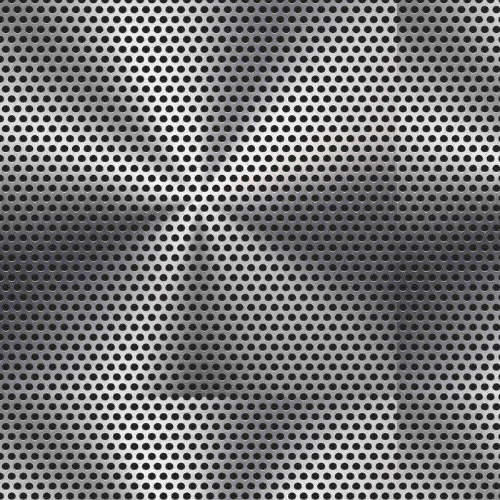 Tapeta Pixerstick Bezproblémová Circle perforované kovové mřížky textury - Surové materiály
