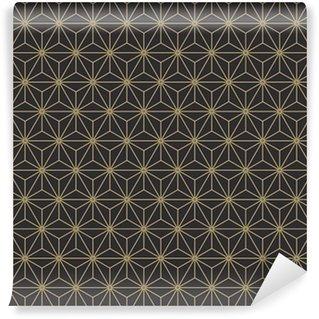 Vinylová Tapeta Bezproblémová starožitné paleta vinobraní japonské asanoha izometrické vzorek vektor