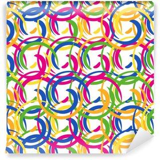 Vinylová Tapeta Bezproblémové barevné vícebarevný vzor z kulatých prvků. vzory pro jedlé polevy pro zakrytí koláčů.