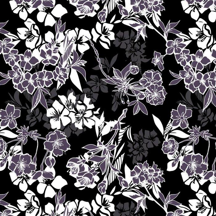 Tapeta Pixerstick Bezproblémové vzorek s rozkvetlou třešní nebo sakura - Struktury