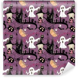Vinylová Tapeta Bezproblémový halloween vzor