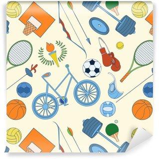 Vinylová Tapeta Bezproblémový sportovní vzorec