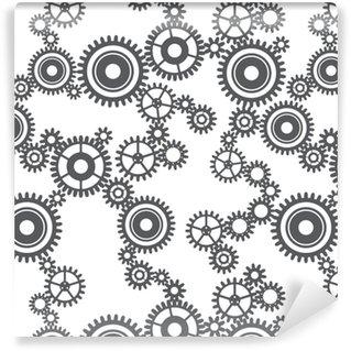 Vinylová Tapeta Bezproblémový vzor ozubených kol
