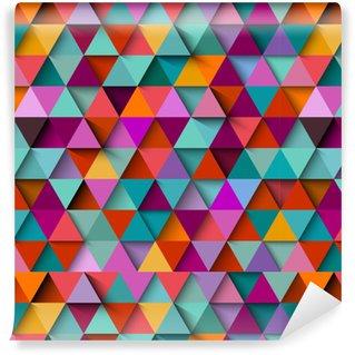Vinylová Tapeta Bezproblémový vzorek pozadí s trojúhelníky a stíny, vektor eps10