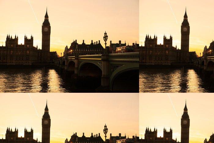 Vinylová Tapeta Big Ben, Poslanecká sněmovna a Westminster Bridge - Témata