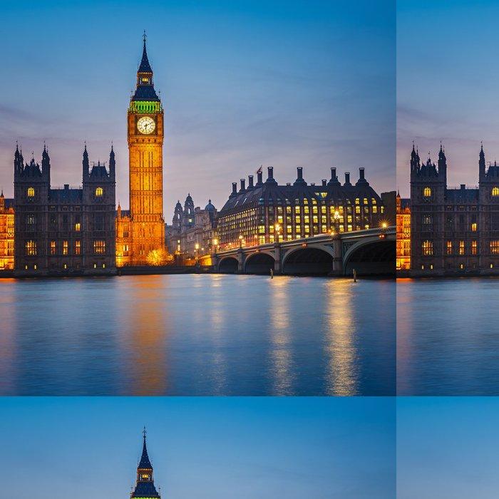 Tapeta Pixerstick Big Ben v noci, Londýn - Témata