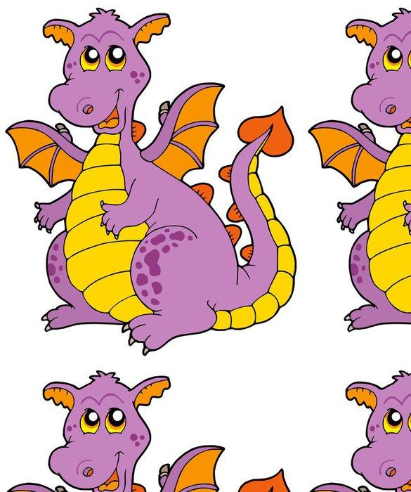 Tapeta Pixerstick Big purple dragon - Nálepka na stěny