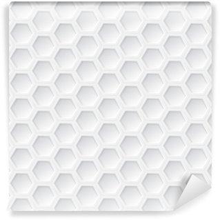 Vinylová Tapeta Bílá 3d hexagon bezešvé vzor