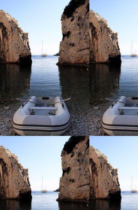 Tapeta Pixerstick Bílá loď - Ostrovy