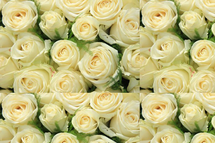 Tapeta Pixerstick Bílá růže na svatební uspořádání - Slavnosti