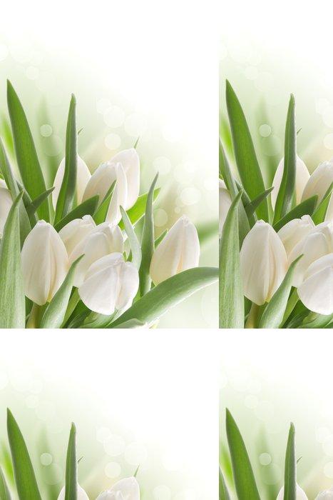 Tapeta Pixerstick Bílé tulipány - Témata