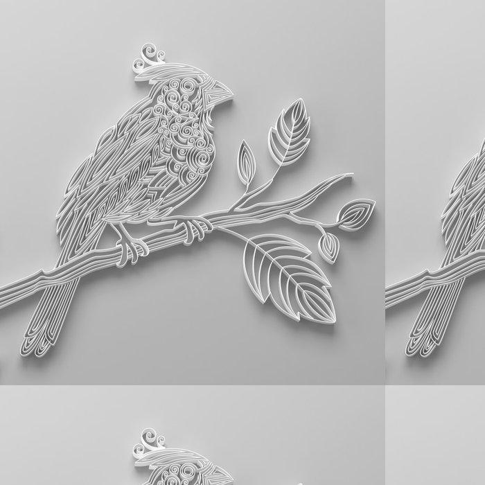 Vinylová Tapeta Bílý filigránské quilling papíru pták - Slavnosti