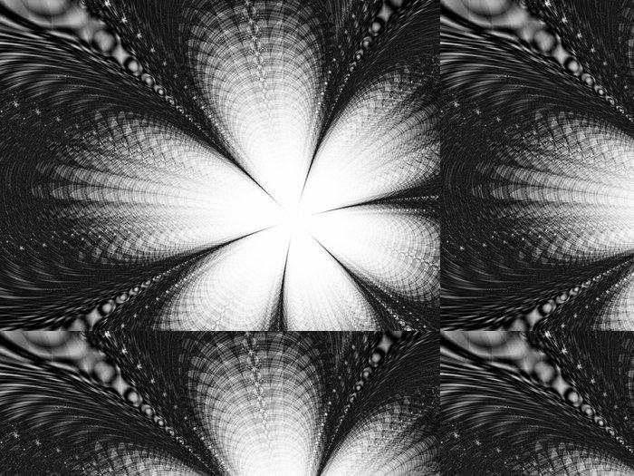 Vinylová Tapeta Bílý květ na černém pozadí - Květiny