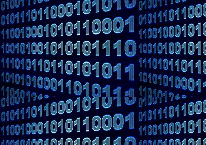 Tapeta Pixerstick Binární kód - Značky a symboly