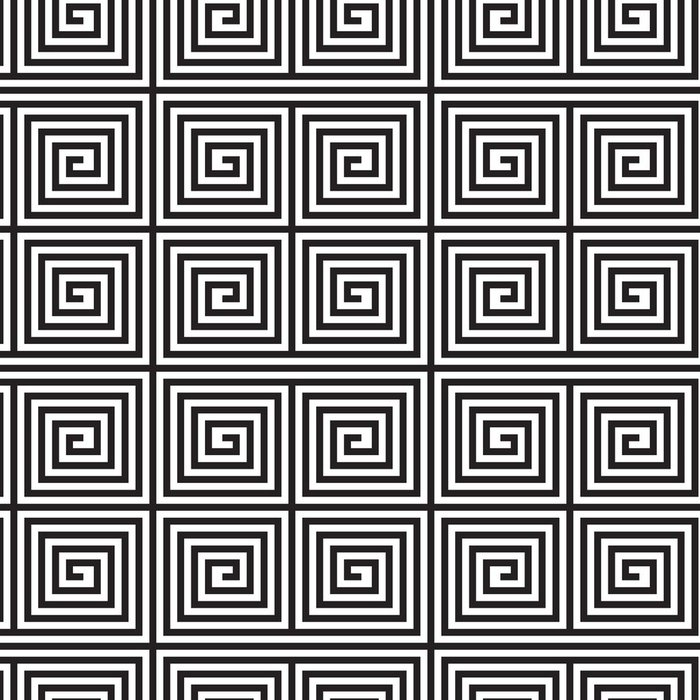 Tapeta Pixerstick Black and White Op Art design, vektorové bezešvé vzor Backgroun - Pozadí