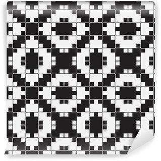 Tapeta Pixerstick Black and White Optical Illusion, vektorové bezešvé vzor.