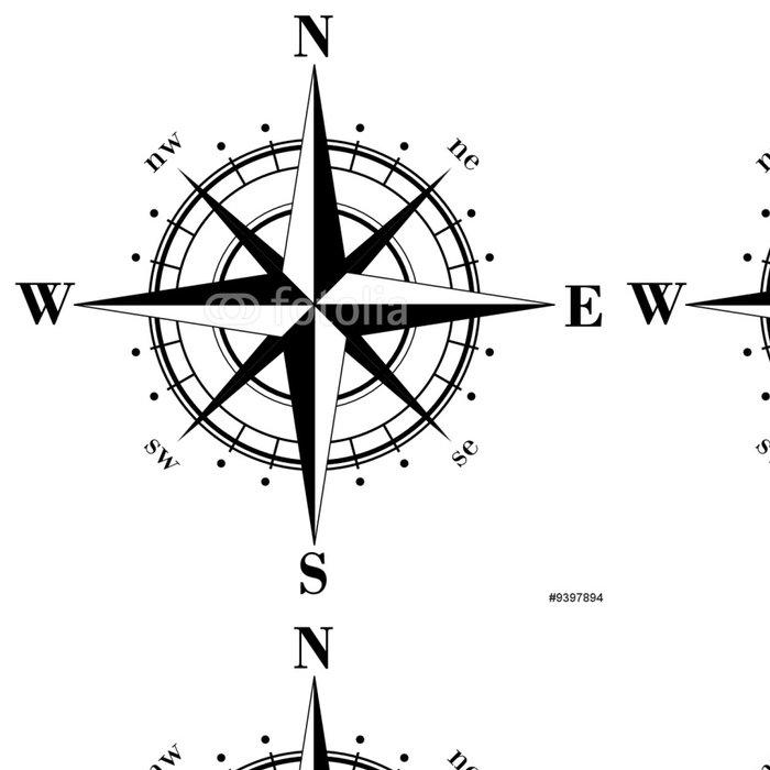 Tapeta Pixerstick Black compass rose - Prázdniny