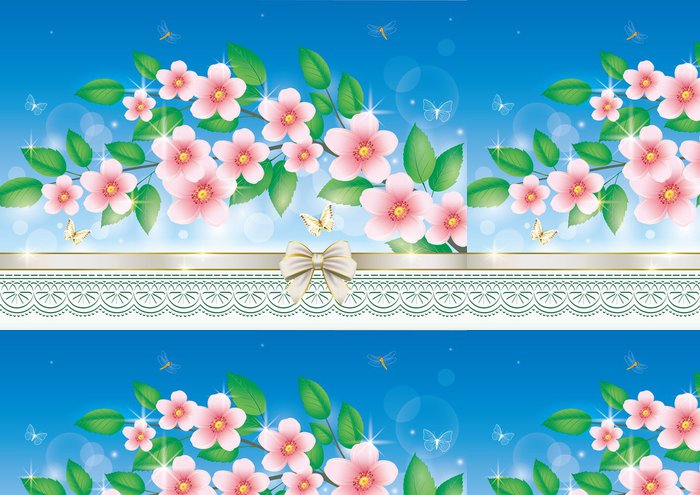 Tapeta Pixerstick Blahopřání s květinami - Národní svátky